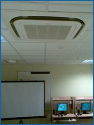 Ducted air conditioning in an office